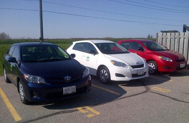 The Guelph Community CarShare Fleet (via @CarShareCoop)